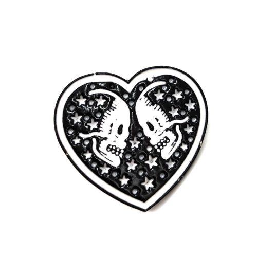 3 Pcs Women's Brooches Heart Design Creative Brooches Cartoon Metal Decoration