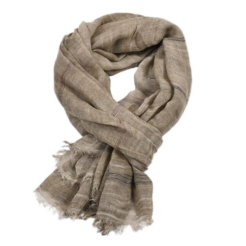 Men's Scarf Fashion Soft Comfortable Machine wash Scarves Casual Striped Winter Scarves - Soft to touch- Check design- Rectangle shape- Fringe trims