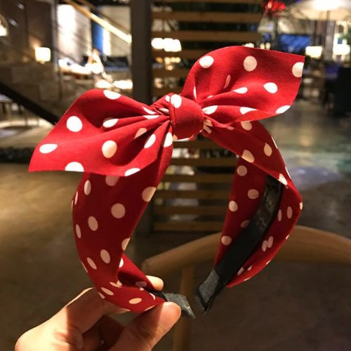 1Pc Women's Hairband Dot Bow Sweet Chic Hair Hair Chains Fashion