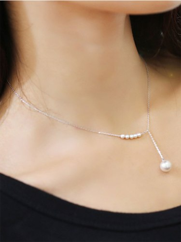 Women's Necklace Elegant Pearl Decorated Trendy Fashion Accessory