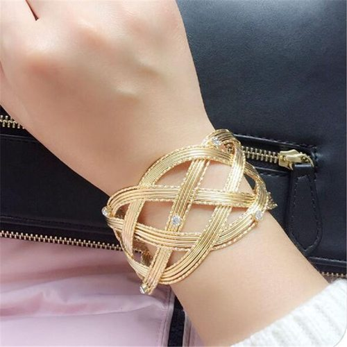 Lucky Doll Women's Bangle Exaggerated Creative Solid Color Rhinestone Accessories Casual Fashion Geometric