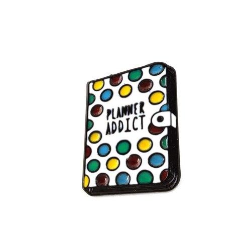 3 Pieces Women's Pins Exquisite Notebook Enamel OL Letter Carving