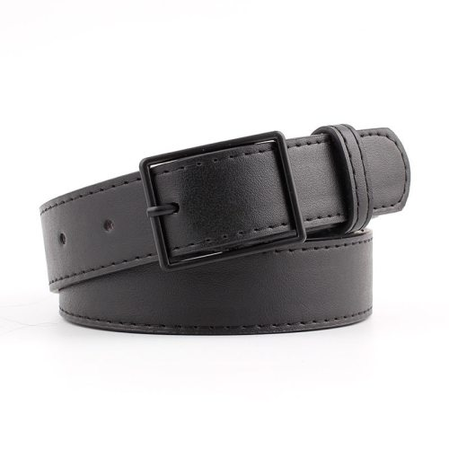 Women's Jeans Belt Pin Buckle Vintage Belt Women's Belts Geometric Casual Accessories One-loop Fashion Rivet