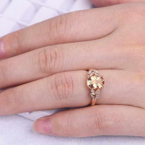 Women's Fashion Ring Zircon Inlaid Elegant Fine Animal Ethnic Catenary/Necklace Rhinestone Infinite Charming Jewelry