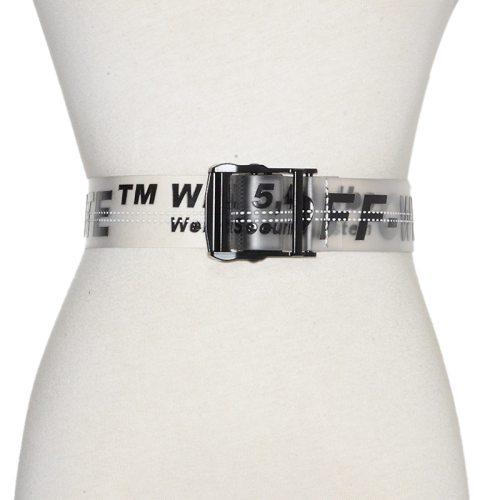 Women's Jeans Belt Simple Transparent Elegant Normal2-4cm Others Letter One-loop Women's Belts Contrast Color Fashion Casual Accessories
