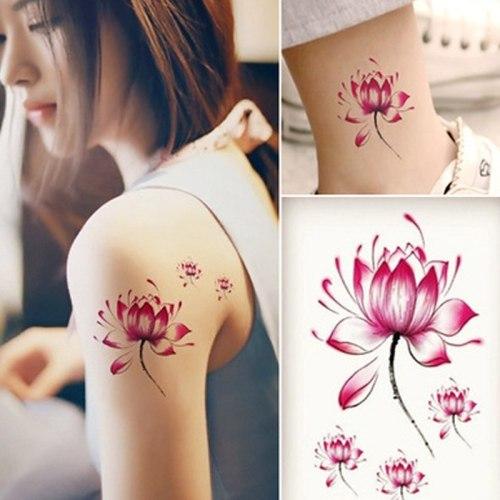 Women's Tattoo Sticker Waterproof Flower Pattern Stylish Tattoo Flowers Accessories Longlasting Ethnic Geometric