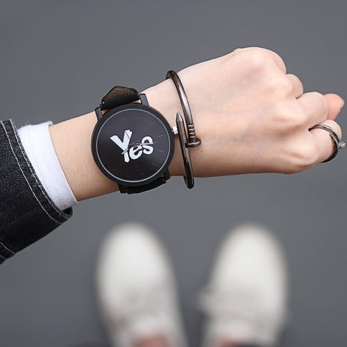 1 Pair Design Pin Buckle Letter Retro Pointer Sporty Watches Bracelets Excluded Quartz Couple watches Alloy PU