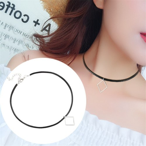Women's Choker With Pendant Brief Stylish Necklace Accessory Basic