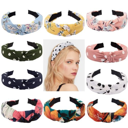 5 Pieces Women's Knotted Print Vintage Hair Floral Hairbands Flowers Fashion Sweet
