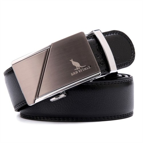 Men's Belt Automatic Buckle Fashion All Match Business Basic Solid Color Metal Decoration Accessory Men's Belts