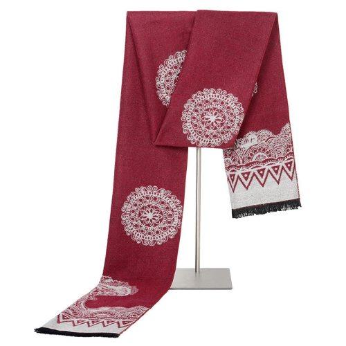 SAN VITALE Men's Scarf Floral Color Block Vintage Style Geometric Winter Scarves Formal Hand wash Accessory Tassel