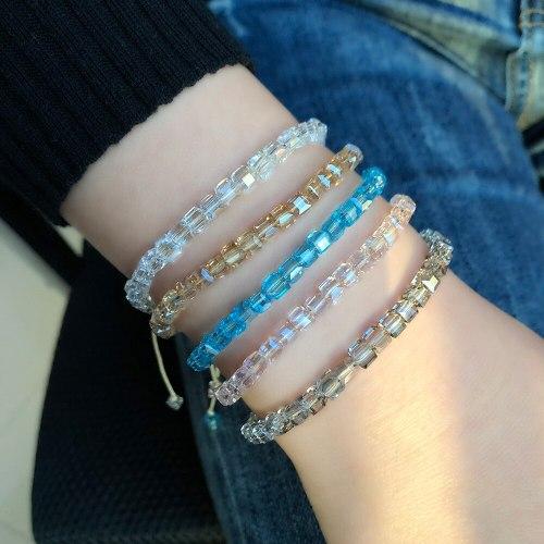 5Pieces/Set Women's Beaded Bracelets National Style Multi Gem Sweet Vintage NinaQueen Beading Accessory Geometric