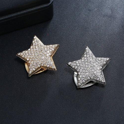 Women's Brooch Creative Star Pin Brooch Rhinestone Sexy Geometric