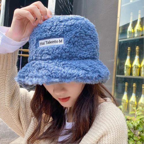 Women's Bucket Hat Fashion Solid Color Warm Daily Candy Color Spring/Autumn Bucket Hats Letter Hand wash Accessories Casual