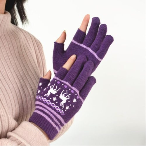 Women's Warm Gloves Candy Color Striped Gloves Hand wash Ethnic Flowers Geometric Touchscreen