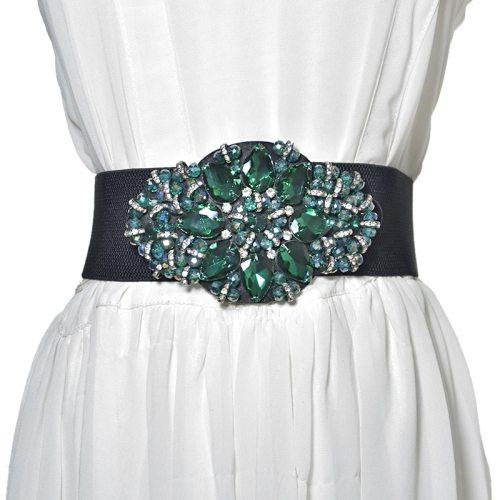 Women's Corset Wide Decor Exquisite Sweet Belt Women's Belts Rhinestone Accessories Fashion Hand wash One-loop