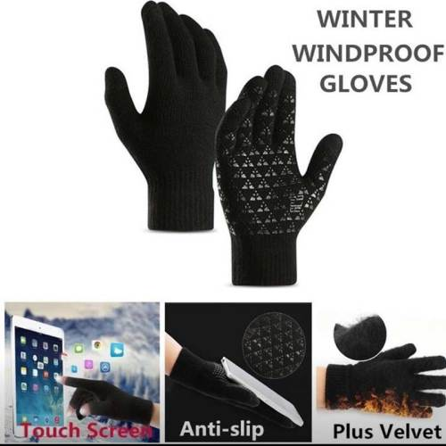 Men's Warm Gloves Riding Driving Touch Screen Anti-skidding Machine wash Outdoor Geometric Top Fashion Contrast Color Accessory