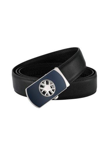 Zaitun Men's Belt Genuine Leather Dress Solid Color Belt Boyfriends Basic Accessory Automatic Buckle Men's Belts