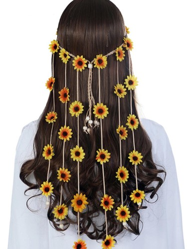 Women's Hairband Flower Decor Lovely Style Hairband Hair Fashion adjustable size Length: 68CM Width: 25CM【 Weight: 】30g None Hair Accessories