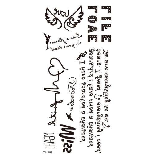 Men's 1Pc Tattoo Fashion Letter Pattern Accessory Punk Contrast Color Gradient Color