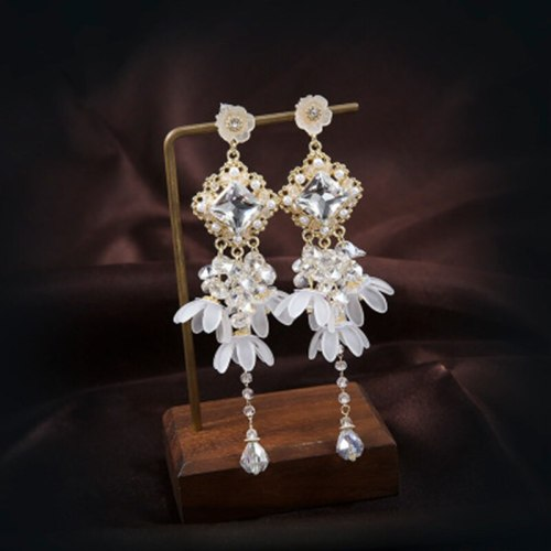 Women's Drop Earrings Ladylike Others Flower/Fruit/Plant Celebrity Fashion Alloy Inlaid with Artificial Gem Floral Flowers