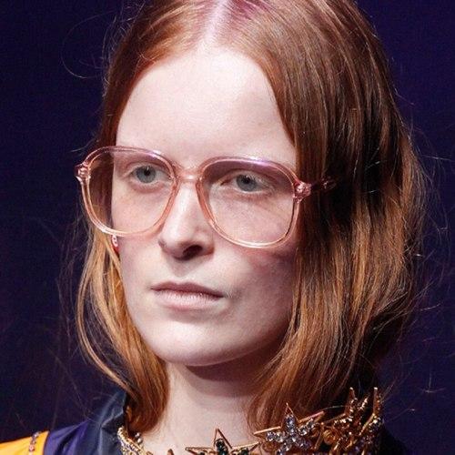 Women's Full Frame Candy Color Eyewear Flowers Square Shape Accessories Letter Punk Eyeglasses Fashion Cat Eye