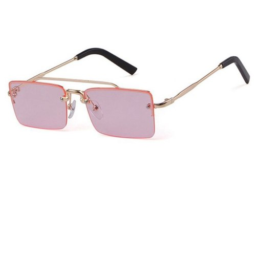 Women's Small Frame Show Stylish Accessory zoravia Wayfarer Sunglasses OL Metal Decoration Others Long Face Wipe clean Rectangle Shape Fashion Solid