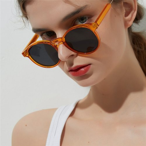 Women's able Vintage All Match zoravia Cycling Wipe clean Fashion Oval Shape Solid Color Others Oversized Metal Decoration Sunglasses Accessory
