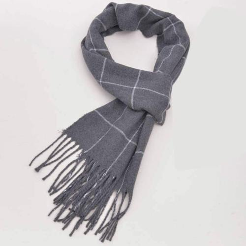 Men's Scarf Decoration Plain Style Casual Tassel Scarves Vintage Geometric Wipe clean Accessory Winter Scarves