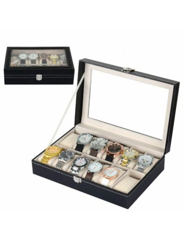 Watch Storage Case 12 Slots Packaging Box High Quality Watch Display Machine Sewing Thread Gift Box Formal enough space for displaying your watch and