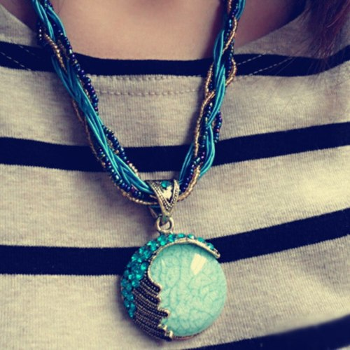 1 Piece Women's Sweater Chain Vintage Ethnic Necklace Catenary/Necklace Metal Decoration Fine Casual Gradient Color