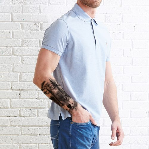 Men's Tattoo Fashion Wolf Pattern Water Proof Print Casual Accessories