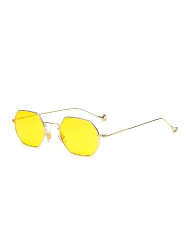 Women's Metal Frame Trendy Sun Protection Eyewear Wayfarer Fashion Sunglasses Wipe clean Accessory