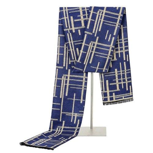 SAN VITALE Men's Scarf Color Block Scarves Top Fashion Winter Scarves Tassel Accessory Striped Hand wash