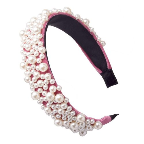 One Piece Women's Hairband Simple Imitation Pearl All-Match Elegant Casual Solid Color Hair Accessories Fashion Rhinestone