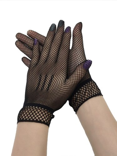 Hollow Out Lace Elegant Ladylike Fashion Solid Women's Gloves Hand wash