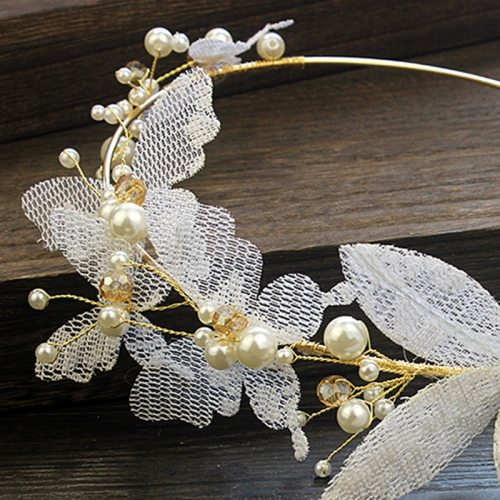 Women's Hairband Imitation Pearl Lace Butterfly Headband Fashion Hair Accessories
