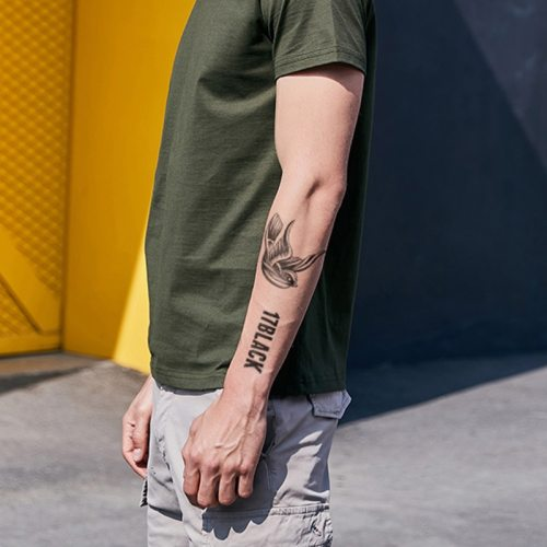 Men's Tattoo Bird Pattern Waterproof Fashion Accessory