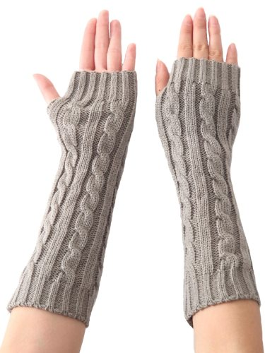 Women's Knitted Gloves All Match Trendy Fingerless Soft Warm Gloves Hand wash Solid Fashion