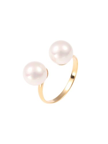 Women's Fashion Ring Imitation Pearl Open Design Accessory Basic Pearls OL