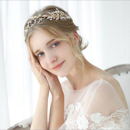 Women's Crown Exquisite Leaf-shape Stylish Hair Fine Hair Accessories