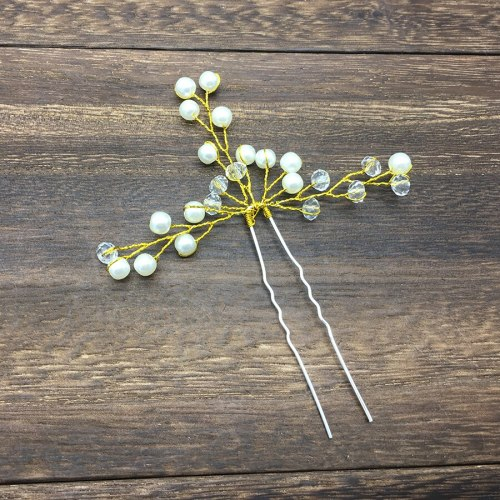 1pc Women's Hair Clip Pearl Decor Elegant Stylish Chic Hair Fashion Hair Clips Wipe clean