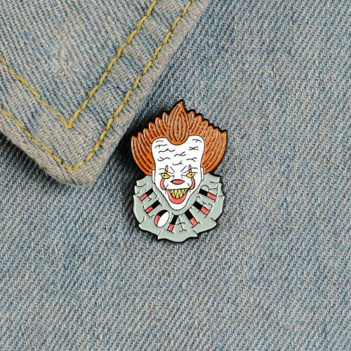 Women's Brooch Clown Design Creative OL Figure Metal Decoration