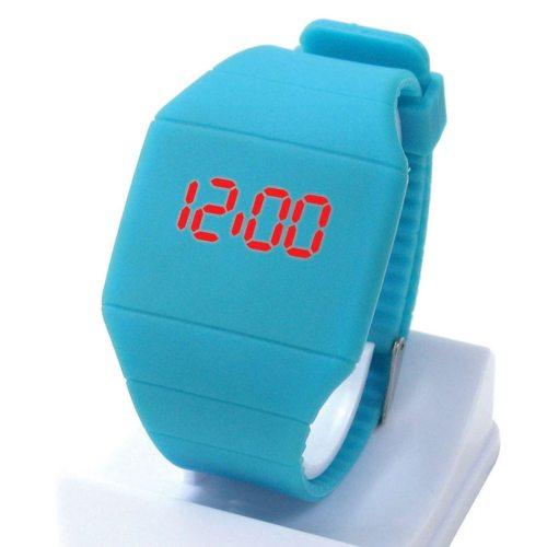Women's Watch Fashionable Sporty Pin Buckle Casual Women's Watches Electronic Wipe clean Figure Candy Color Rubber