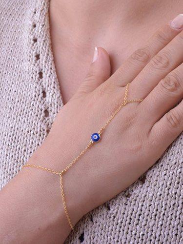 Women's Fashion Bracelet Simple Delicate Eyes Pattern Design Fine Accessory