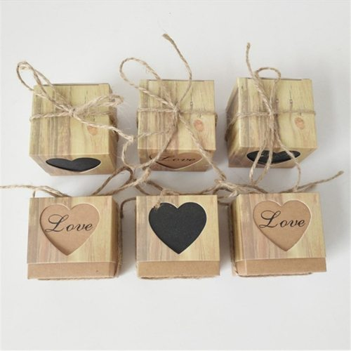 10pcs/lot Women's Candy Box Gift Romantic Heart Kraft Gift Wedding Bag Plaid Letter Casual 7-10Pcs