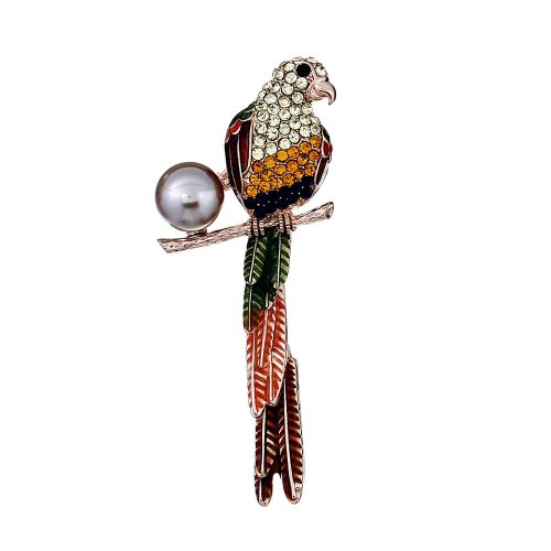 Women's Pin Exquisite Bird Shape Alloy Stylish Brooch Animal Print