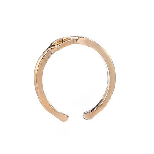 Women's Fashion Ring Simple Metal Digit 8 Elegant Metal Decoration Solid Color Cartoon Fine Accessories