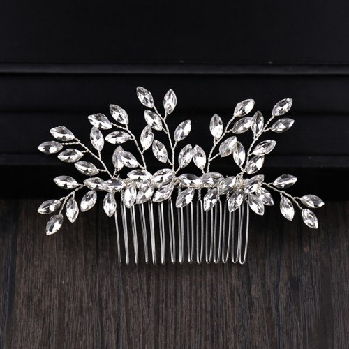 Women's Hair Comb Wedding Bride Party Hair Comb Solid Color Hair Clips Casual Fashion Wipe clean Rhinestone