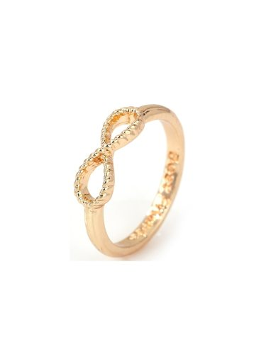 Women's Fashion Ring Simple Style 8 Number Shape Design Stylish Basic Accessories